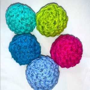 10 Crocheted Organic Catnip Roly Poly Toys HP 🔥